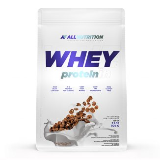 Allnutrition Whey Protein, smak czekolady mlecznej, 908 g - zdjęcie produktu