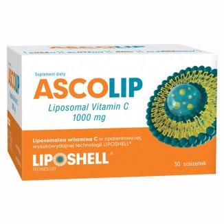 Ascolip, liposomalna witamina C 1000 mg, żel doustny, 5 g x 30 saszetek - zdjęcie produktu