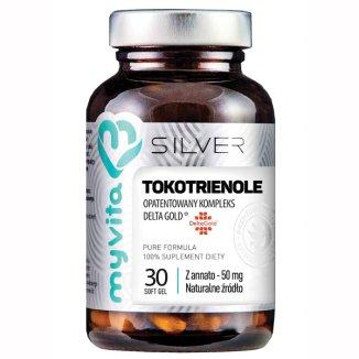 MyVita Silver, Tokotrienole DeltaGold z annato 50 mg, 30 kapsułek - zdjęcie produktu