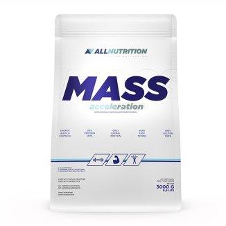 Allnutrition, Mass Acceleration, gainer, smak truskawkowo-bananowy, 3000 g - zdjęcie produktu