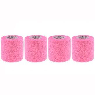 5E, bandaż kohezyjny Non-Woven Premium, bezlateksowy, różowy, 5 cm x 4,5 m, 4 sztuki - zdjęcie produktu