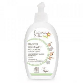 Natura Bella Baby, płyn do kąpieli i szampon 2w1, koncentrat, 300 ml - zdjęcie produktu