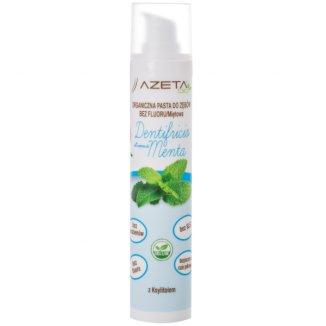 Azeta Bio, organiczna pasta do zębów dla dzieci i dorosłych, od urodzenia, bez fluoru, miętowa, 50 ml - zdjęcie produktu