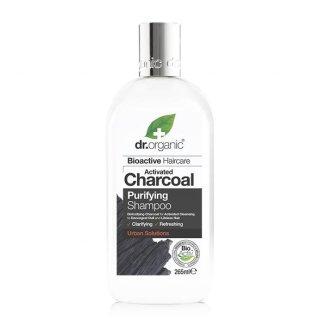 Dr. Organic Charcoal, szampon do włosów z organicznym aktywnym węglem, 265 ml - zdjęcie produktu