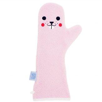 Baby Shower Glove, rękawiczka antypoślizgowa pod prysznic, różowa, 1 sztuka - zdjęcie produktu