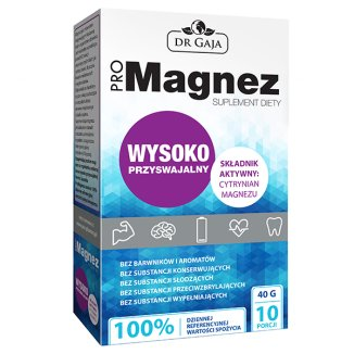DR GAJA, Promagnez, cytrynian magnezu, 10 saszetek - zdjęcie produktu