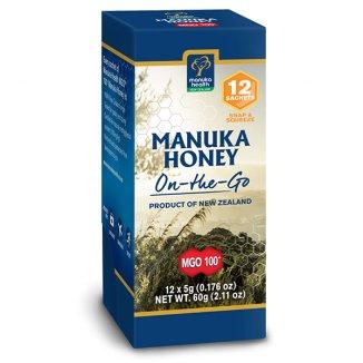 Manuka Health, miód Manuka MGO 100 +, 12 saszetek po 5 g - zdjęcie produktu