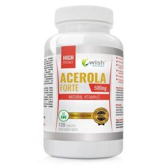 Wish Acerola Forte 500 mg, 120 tabletek - zdjęcie produktu