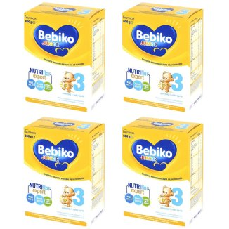 Bebiko 3 Junior, mleko modyfikowane, dla dzieci powyżej 1 roku życia, 4 x 800 g - zdjęcie produktu