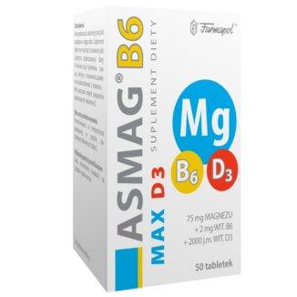 Asmag B6 Max D3, 50 tabletek - zdjęcie produktu
