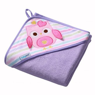 BabyOno, okrycie kąpielowe frotte, bawełniane, fioletowe, 76 x 76 cm, 1 sztuka - zdjęcie produktu