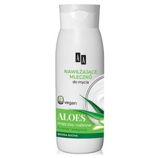 AA Vegan, mleczko nawilżające do mycia ciała, aloes, 400 ml - zdjęcie produktu
