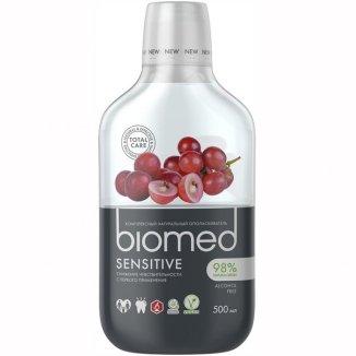 Biomed Sensitive, płyn do płukania jamy ustnej, bez fluoru, 500 ml - zdjęcie produktu