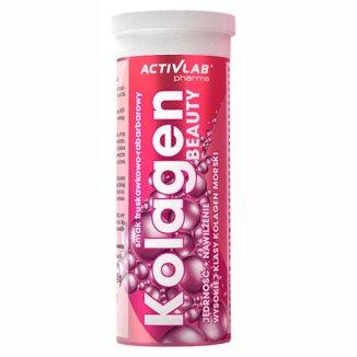 Activlab Pharma Kolagen Beauty , smak truskawkowo-rabarbarowy, 20 tabletek - zdjęcie produktu