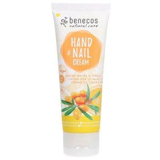 Benecos, naturalny krem do rąk i paznokci, rokitnik i pomarańcza, 75 ml - zdjęcie produktu