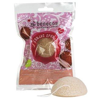 Benecos, naturalna gąbka do twarzy, czerwona glinka, 1 sztuka - zdjęcie produktu
