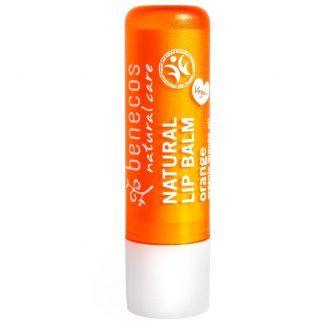 Benecos, naturalny balsam do ust, pomarańcza, 4,8 g - zdjęcie produktu
