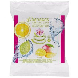 Benecos, naturalne chusteczki oczyszczające do twarzy, 25 sztuk - zdjęcie produktu