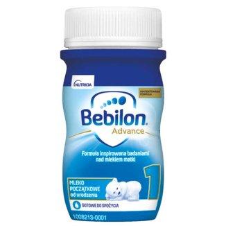 Bebilon 1 z Pronutra Advance, mleko początkowe gotowe do spożycia, od urodzenia, 90 ml - zdjęcie produktu