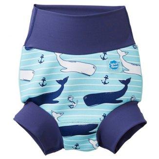 Splash About, Happy Nappy, pieluszka do pływania, Wieloryby, 2-3 lata, rozmiar XXL, 1 sztuka - zdjęcie produktu