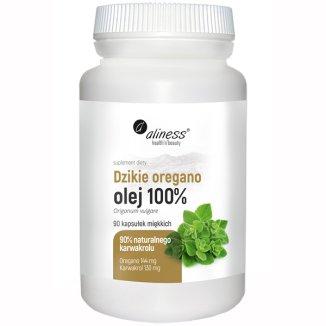 Aliness Dzikie Oregano, olej 100%, 90 kapsułek - zdjęcie produktu
