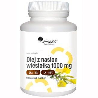 Aliness Olej z nasion wiesiołka 1000 mg, 90 kapsułek - zdjęcie produktu