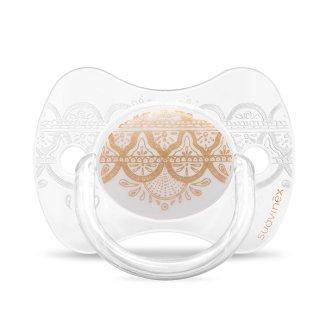 Suavinex, smoczek silikonowy, fizjologiczny, biały, 4-18 miesiąca, 1 sztuka - zdjęcie produktu