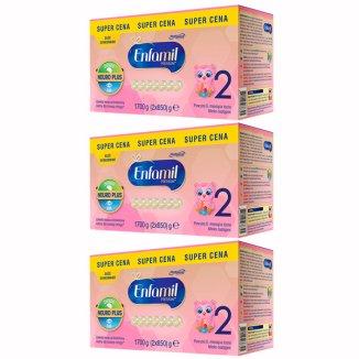 Enfamil 2 Premium, mleko modyfikowane w Proszku, po 6 miesiącu, 3 x 1700 g - zdjęcie produktu