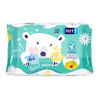 Bella No 1 Kids, papier toaletowy nawilżany, dla dzieci, 52 sztuki - zdjęcie produktu