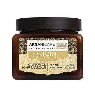 Arganicare Castor oil, maska stymulująca porost włosów, 500 ml - zdjęcie produktu
