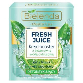 Bielenda Fresh Juice, krem booster detoksykujący z bioaktywną wodą cyrtusową, 50 ml - zdjęcie produktu
