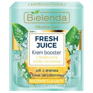 Bielenda Fresh Juice, krem booster rozświetlający z bioaktywną wodą cytrusową, 50 ml - zdjęcie produktu