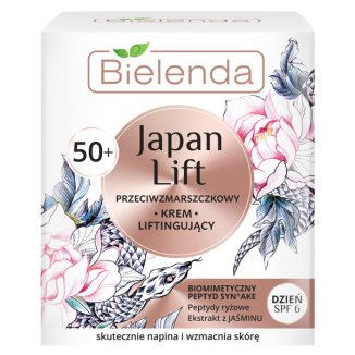 Bielenda Japan Lift 50 +, krem liftingujący na dzień, przeciwzmarszczkowy, 50 ml - zdjęcie produktu
