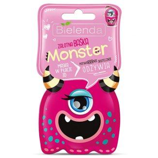 Bielenda Monster, maska w płacie 3D, Zalotna Baśka, odżywiająca, 1 sztuka - zdjęcie produktu