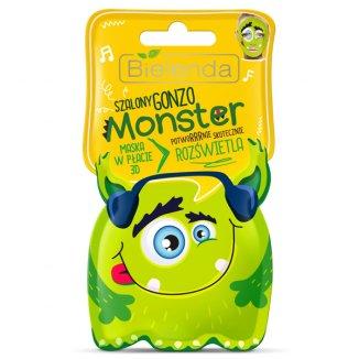 Bielenda Monster, maska w płacie 3D, Szalony Gonzo, rozświetlająca, 1 sztuka - zdjęcie produktu