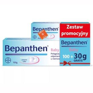 Bepanthen Baby, maść przeciw oparzeniom pieluszkowym dla niemowląt, od urodzenia, 100 g + Bepanthen Baby 30 g gratis - zdjęcie produktu