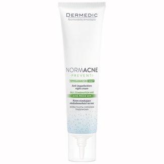 Dermedic Normacne, krem niwelujący niedoskonałości, na noc, 40 ml - zdjęcie produktu