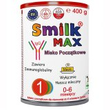 Smilk Max 1, mleko początkowe, dla niemowląt do 6 miesiąca życia, 400 g - miniaturka zdjęcia produktu