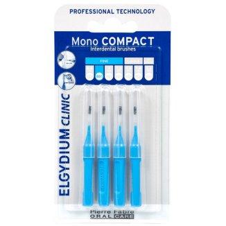 Elgydium, szczoteczki międzyzębowe, Mono Compact, 0,8 mm, niebieskie, 4 sztuki - zdjęcie produktu