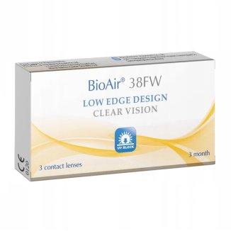 BioAir 38FW, soczewki kontaktowe, kwartalne, -1,25, 3 sztuki - zdjęcie produktu