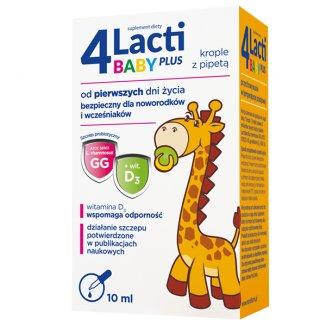 4 Lacti Baby Plus od pierwszych dni życia, krople, 10 ml - zdjęcie produktu