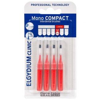 Elgydium, szczoteczki międzyzębowe, Mono Compact, 1,5 mm, czerwone, 4 sztuki - zdjęcie produktu