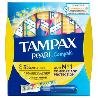 Tampax Compak Pearl, tampony higieniczne, Regular, 8 sztuk - zdjęcie produktu