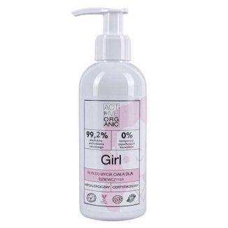 Active Organic, płyn do mycia ciała dla dziewczynek, 200 ml - zdjęcie produktu