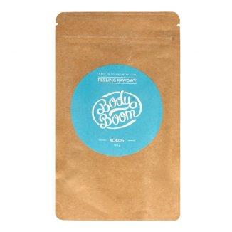BodyBoom, peeling kawowy, Imprezowy kokos, 100 g - zdjęcie produktu