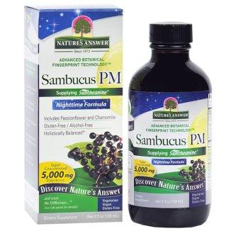Nature's Answer, Sambucus Nighttime Formula, czarny bez, 120 ml - zdjęcie produktu