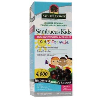 Nature's Answer Sambucus Kids, czarny bez, 240 ml - zdjęcie produktu