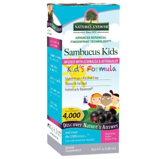 Nature's Answer, Sambucus Kids, czarny bez, o smaku wiśniowym, 240 ml - zdjęcie produktu
