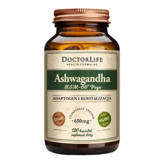 Doctor Life Ashwagandha KSM-66 Vege, 120 kapsułek - zdjęcie produktu