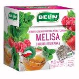Belin Melisa z maliną i truskawką, herbatka ziołowo-owocowa, aromatyzowana, 2 g x 20 saszetek - miniaturka zdjęcia produktu